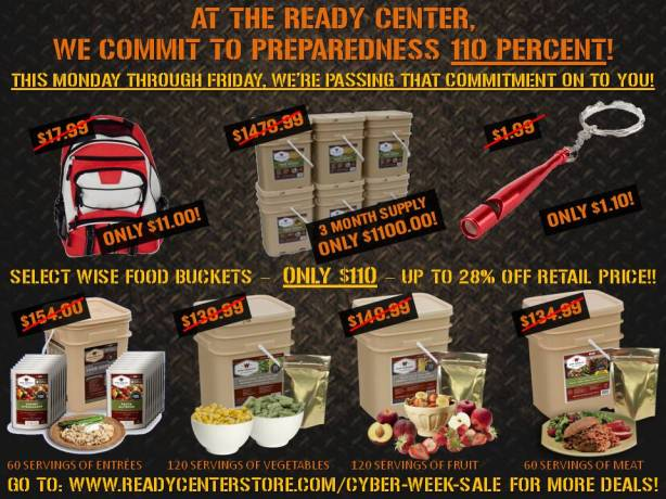 The Ready Center Cyber Week Sale